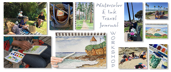 My Artist Loft Watercolor and Ink Travel Journal Class